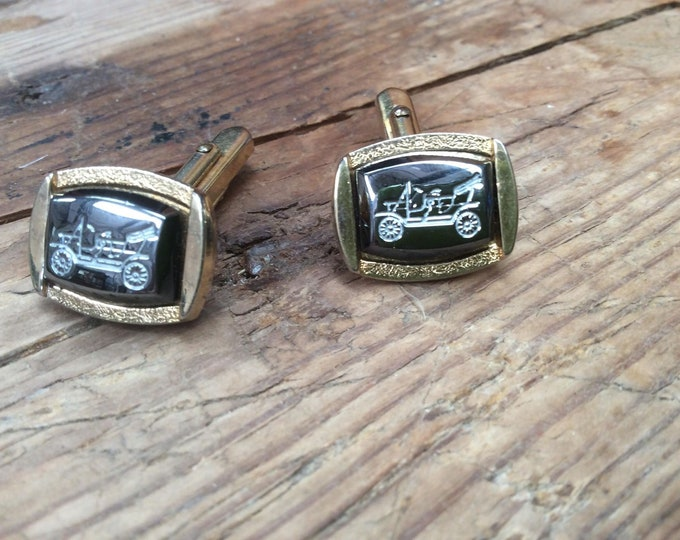 Classic Car Vintage Cufflinks Stunning Design Great Gift Fathers Day Valentine Birthday Gift JO76