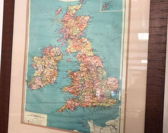 Mid Century Old School Map