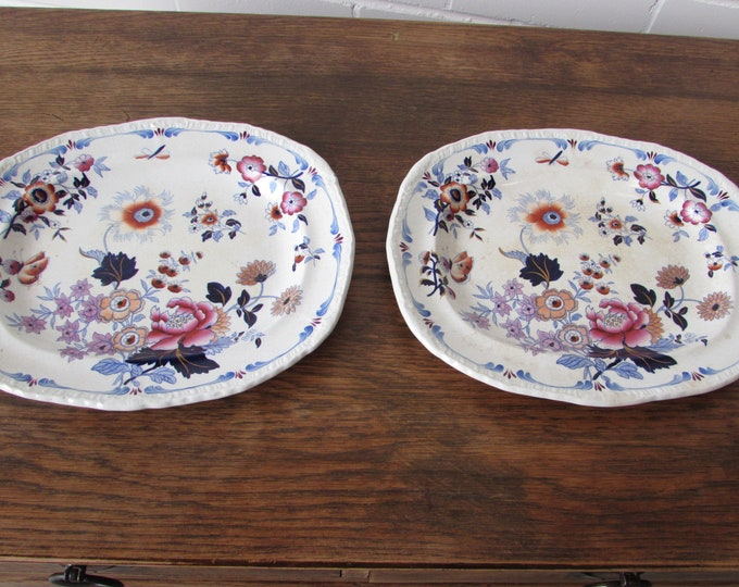 H & R Daniel Japan Group 2 x Serving Plate Platter RARE Design