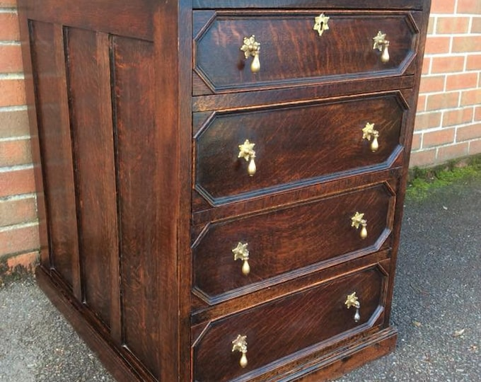 Stunning Deep Antique Chest of Drawers Bank of Drawers