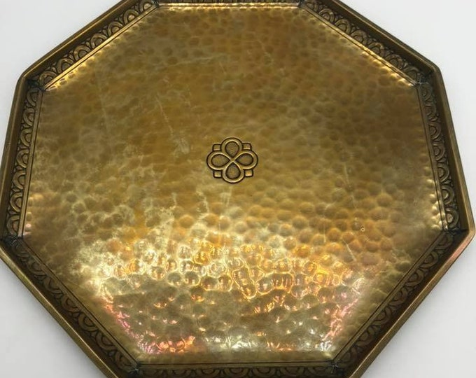 Antique WMF Hammered Calling Card Tray