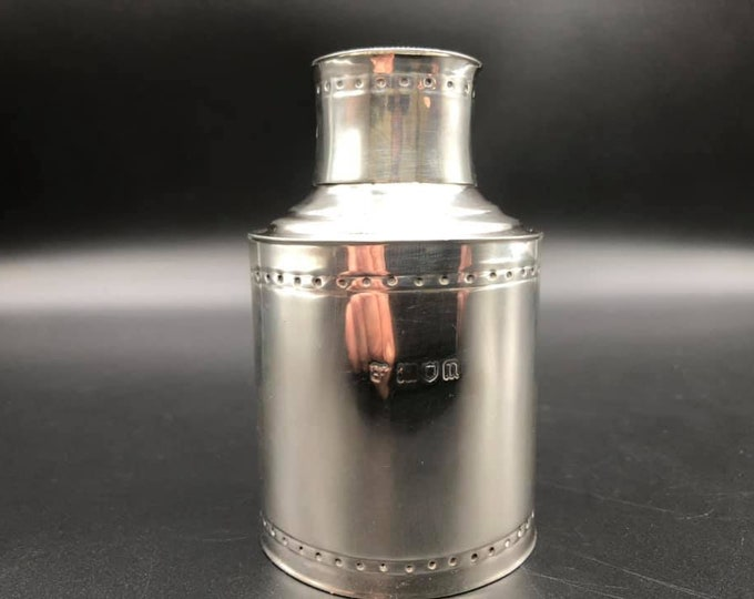 Edwardian Solid Silver Tea Caddy