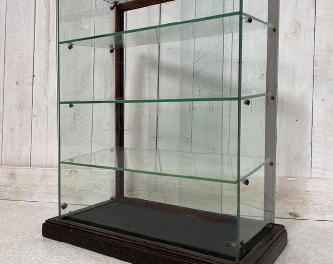Glass Confectionary Fry's Chocolate Display Cabinet Original