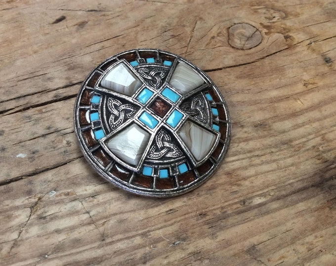 Vintage Miracle Brooch Pendant Dual Purpose Celtic Cross- J065