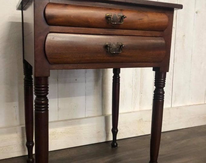 Antique Early 20th Century Bedside Table End Side Table
