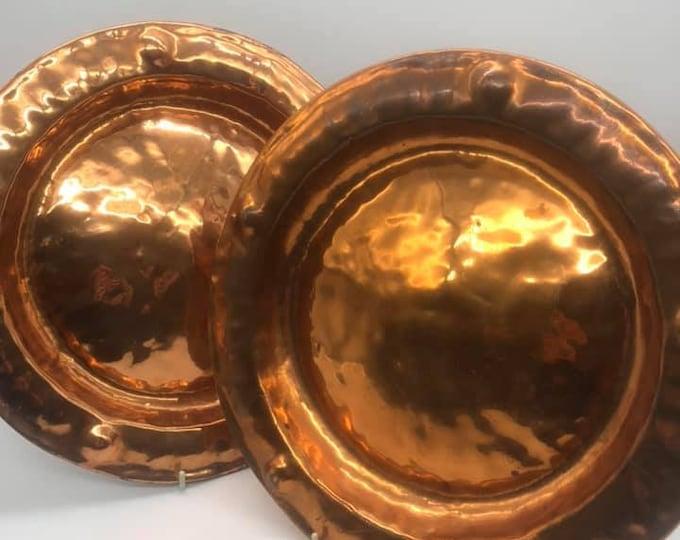 Pair of Antique Copper Plaques