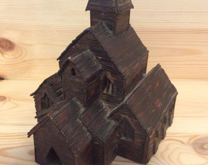 Vintage Folk Art Church Rare Unusual Collectable