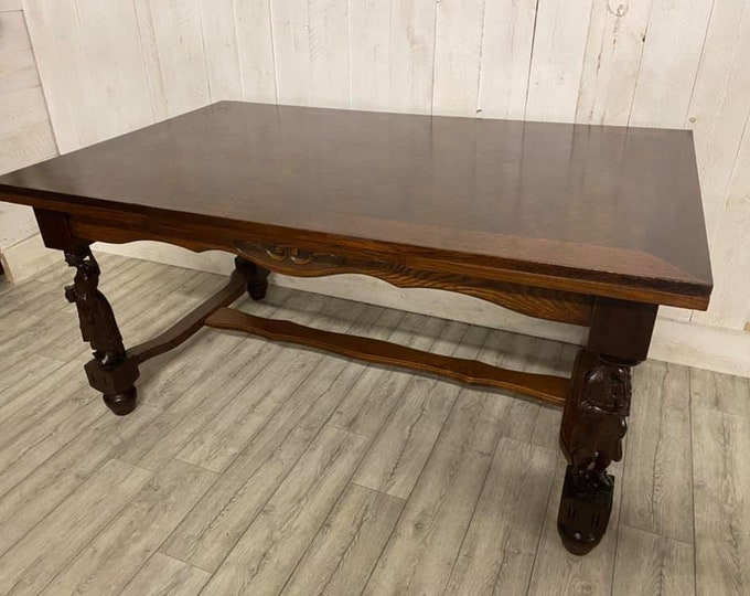 Large French Breton Extending Dining Table