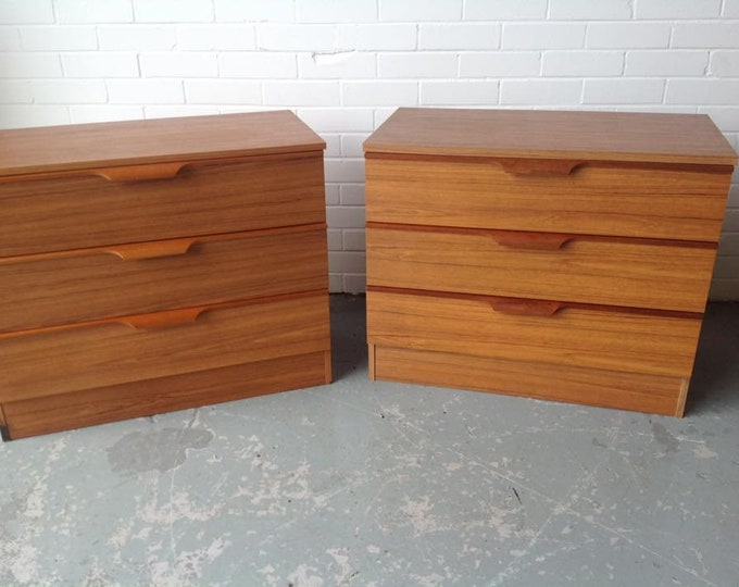 Pair Mid Century Chest of Drawers Bank of Drawers