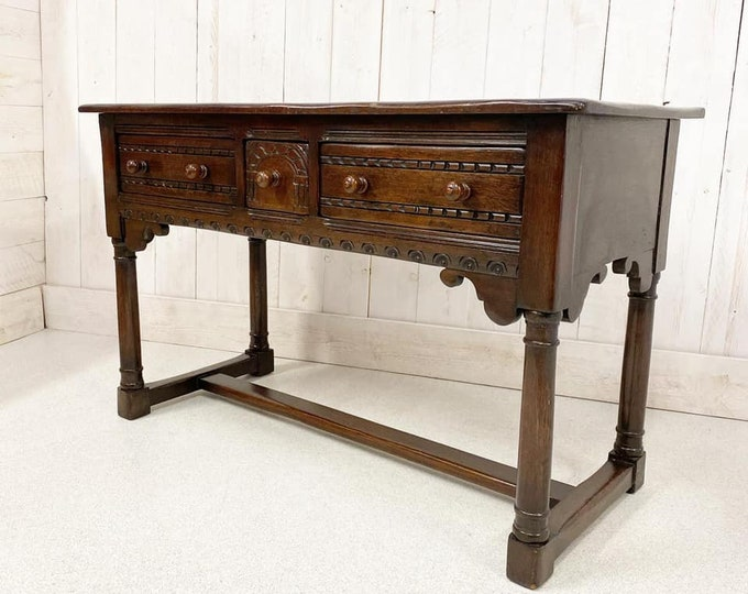 Oak Hall Console Table