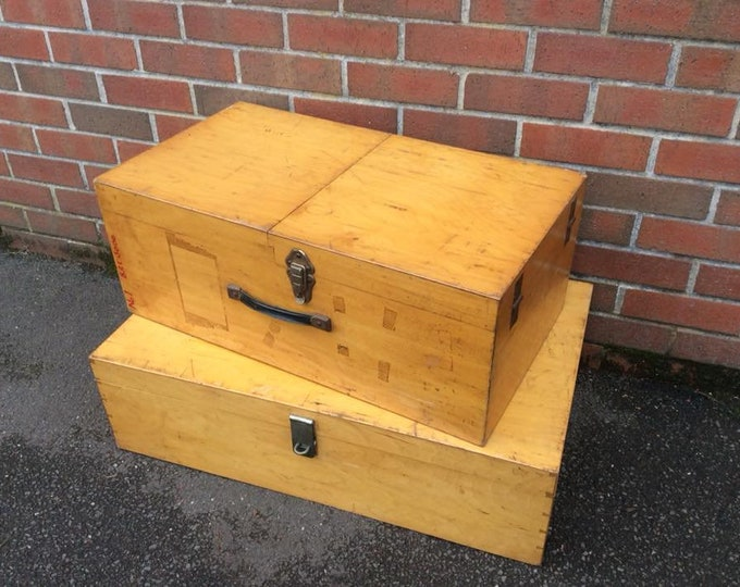 Set of 2 Vintage C1950 Storage Boxes Super Stylish