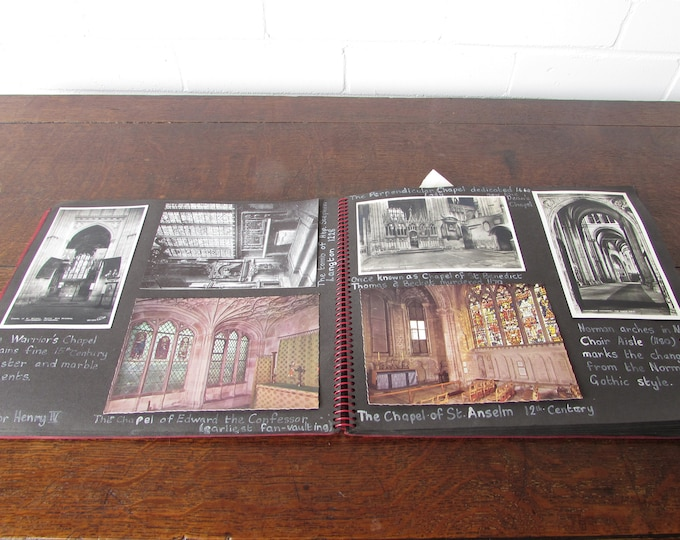Scrapbook Full of Vintage Postcards (approx 115) Canterbury Cathedral