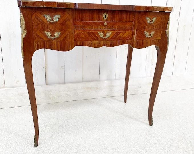 French Kingwood and Marquertry Dressing Table