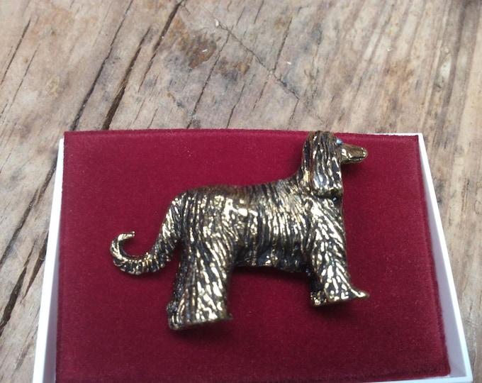 Afghan hound Vintage Pin Back Brooch- J032