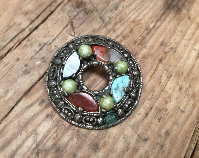 Vintage Celtic Style Brooch Pendant Signed Miracle Designer Collectable Jewellery- J066