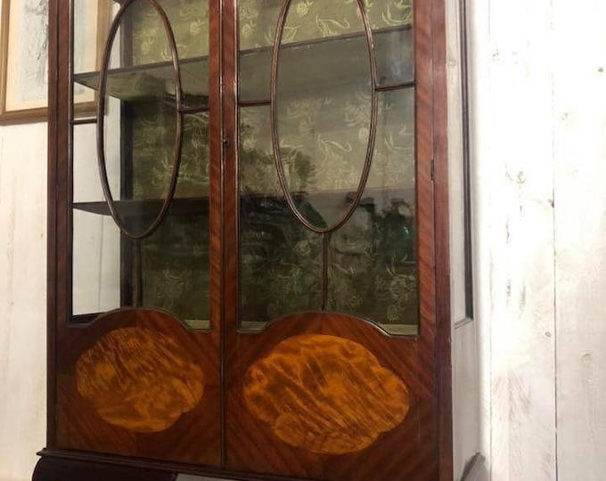 Large Edwardian Antique Display Cabinet