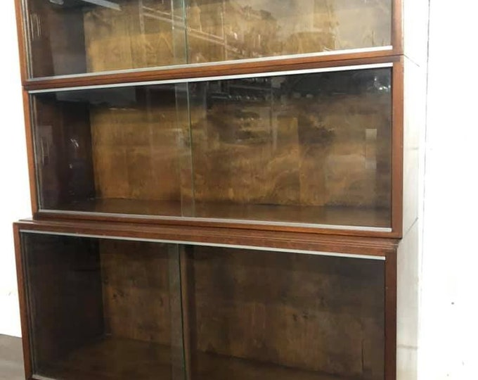 Mid Century Minty Library Bookcase Display Cabinet