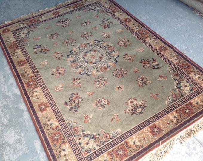 Vintage Pure Wool Large Ground Rug