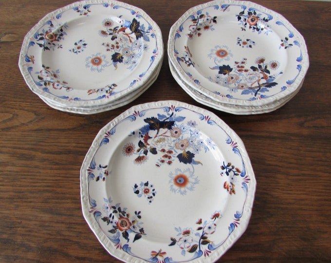 H & R Daniel Japan Group 1906 Pattern RARE 7 x Side Plates