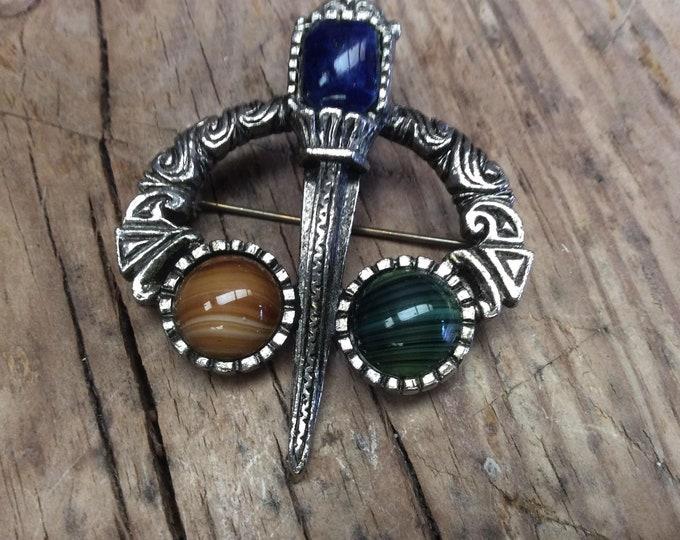 Celtic Brooch Vintage Costume Jewellery- J056