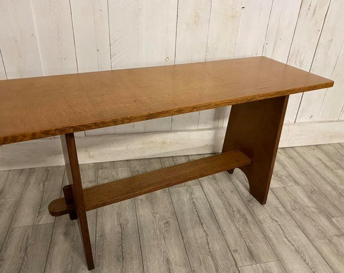 Arts and Crafts Cotswold School Light Oak Bench