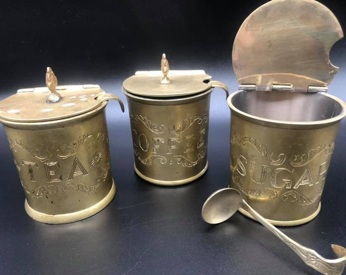 Vintage C1940 Set of Tea Coffee Sugar Cannisters