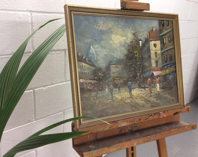 Parisian Scene Painting by Burnett