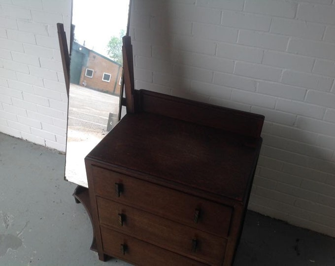 Vintage Antique Cotswold School Dressing Table Dresser C1930