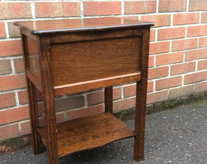 Solid Oak Vintage Sewing Box Sofa Table