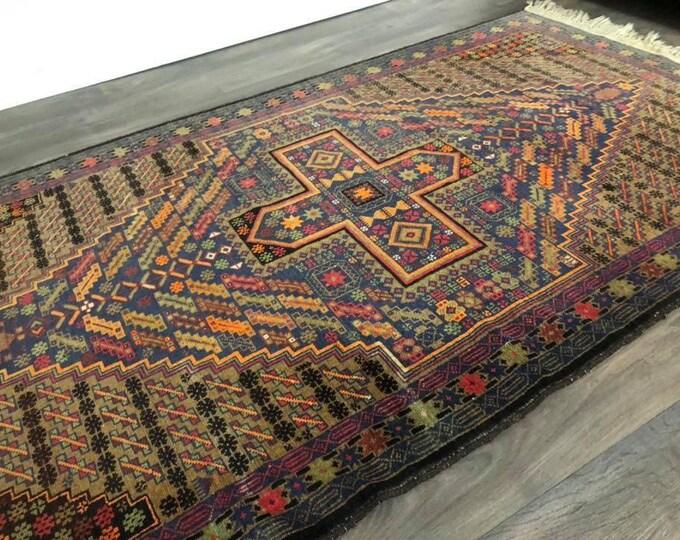 Large Afghan Rug 205 x 114cm