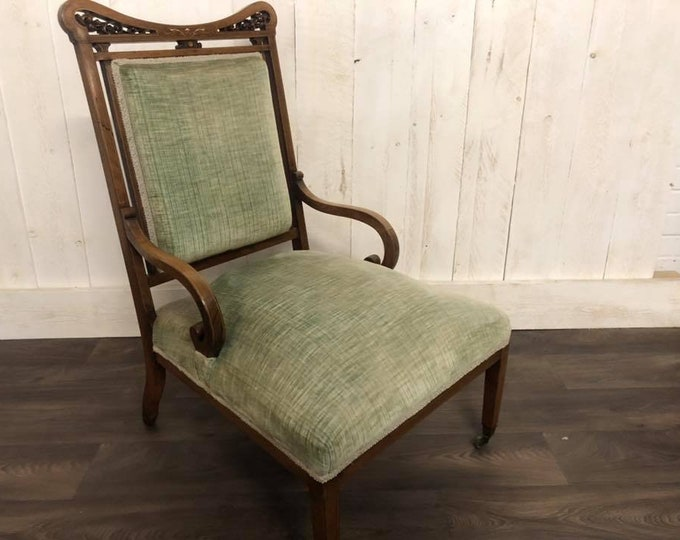 Antique Edwardian Rosewood Nursing Hall Chair Bedroom Chair