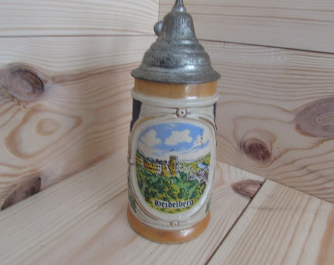 German Heidelberg small tankard stein Beer Stein