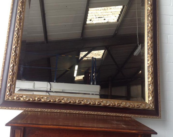 Very Large Parcel and Gilt Bevelled Edge Wall Mirror