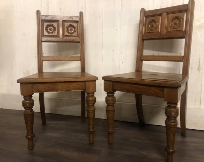 Pair of Antique Victorian Aesthetic Movement Chairs