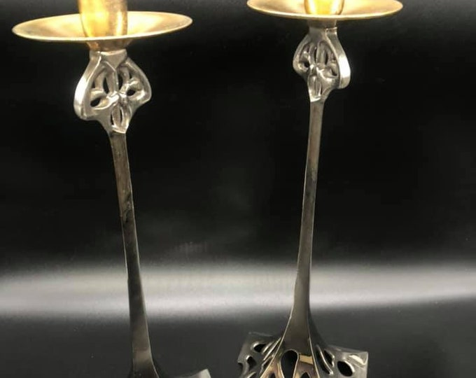 Pair of Secessionist Candle Sticks