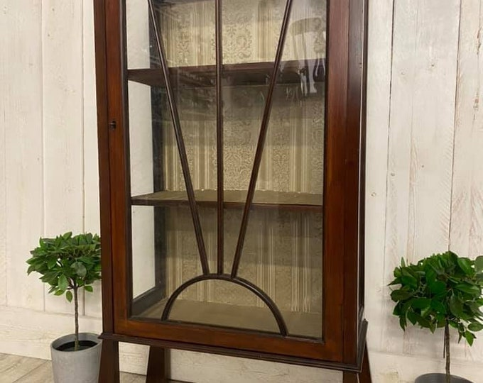 Art Deco Display Cabinet with Key Gin Cabinet