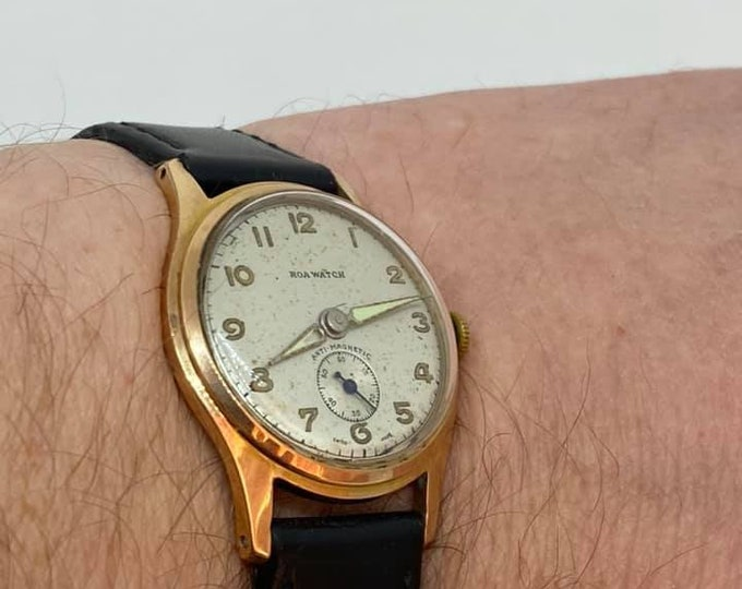 Vintage Roa Gentlemens Military Style Wristwatch