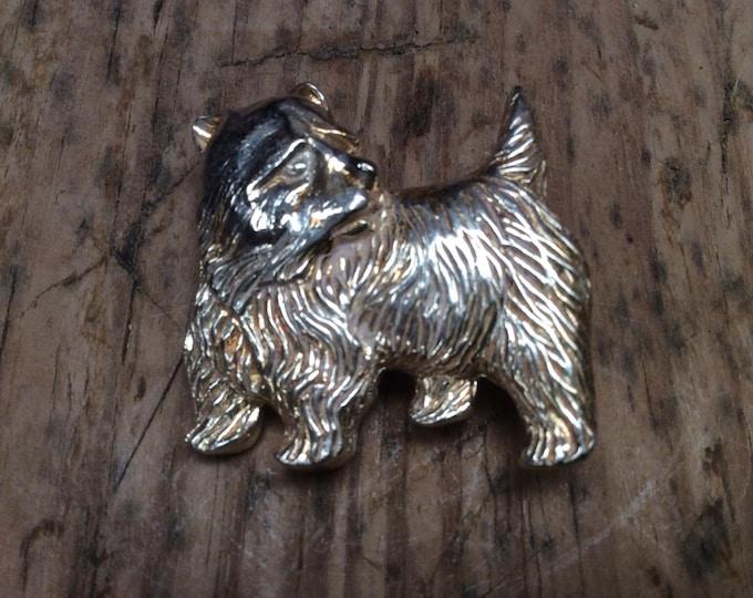 Vintage Dog Brooch- J007