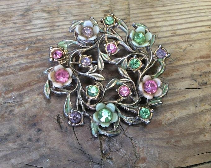 Stunning Vintage Brooch Costume Jewellery Signed - J001