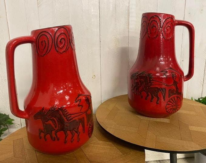 Pair of CM West German Vases