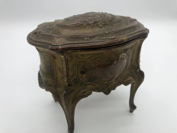 Antique French Table Casket Jewellery Box