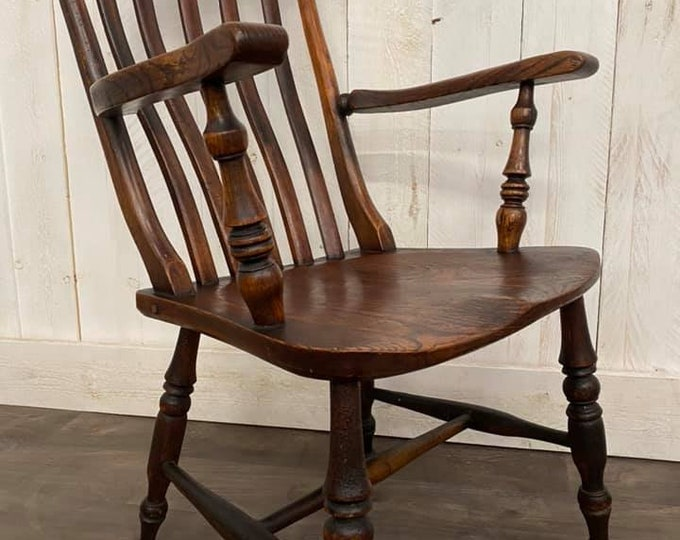 Large Victorian Fireside Chair
