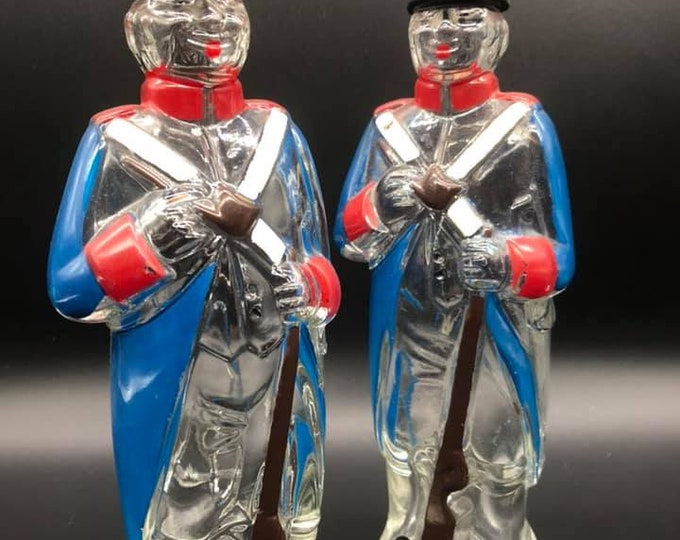 Pair of French Mid Century Decanters Kitsch Quirky Gift