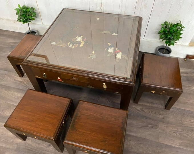 Chinese Low Tea Table and Stools