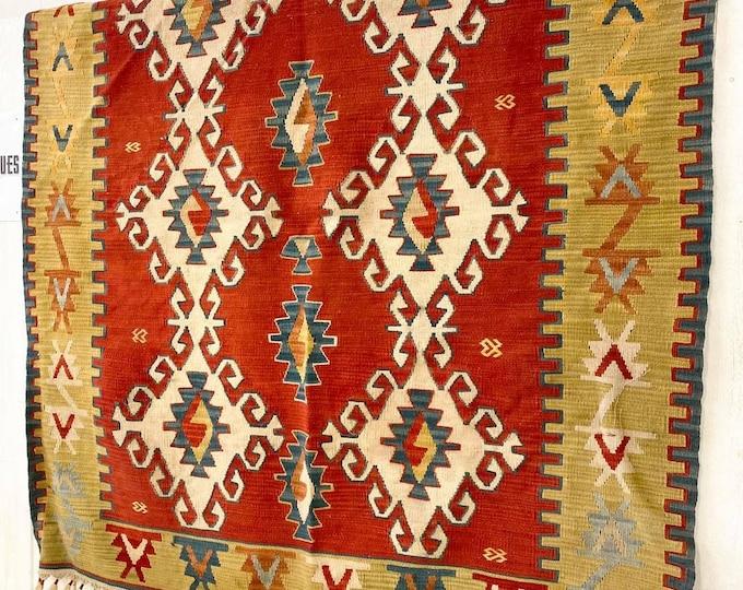 Large Decorative Kilim Rug 190cm x 168cm
