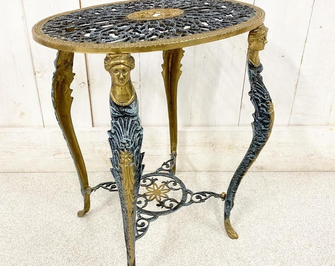 Gilt Metal Side Table