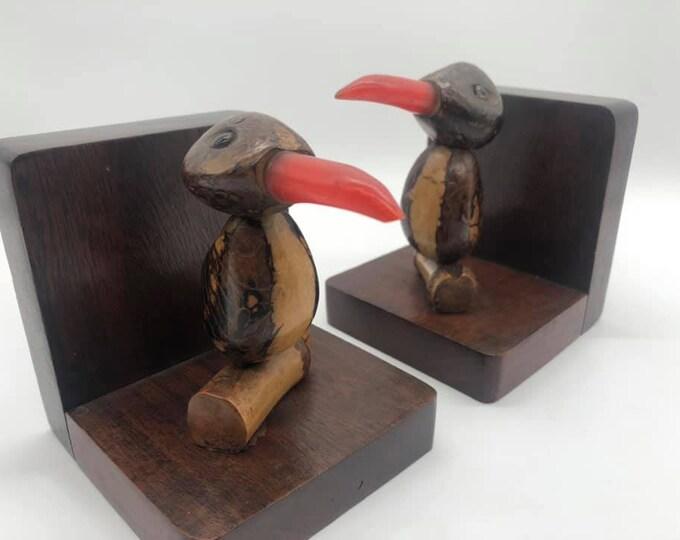 Novelty Kitsch Art Deco Bird Bookends