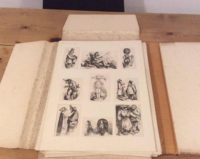 Folio of Mid 19th Century French Publication