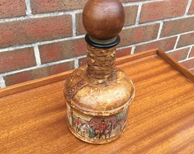 Italian Vintage Decorative Brandy Whisky Decanter Tourist Piece