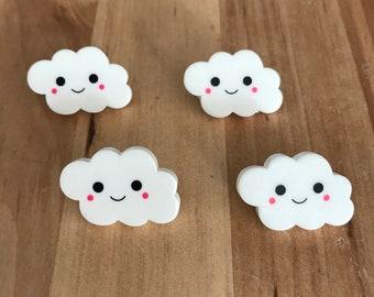 Cloud pin badge